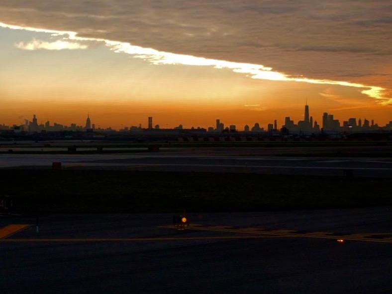 NYC skyline vanuit EWR