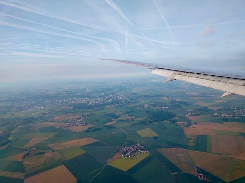 Vlaamse velden, vanuit het vliegtuig