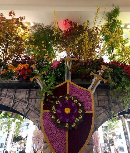 Macy's Flower Show New York - wapenschild uit bloemen