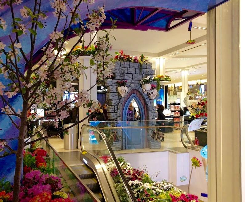 Macy's Flower Show New York binnen, roltrap