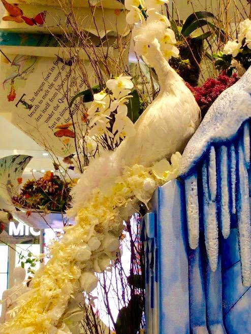 Macy's Flower Show New York pauw uit bloemen