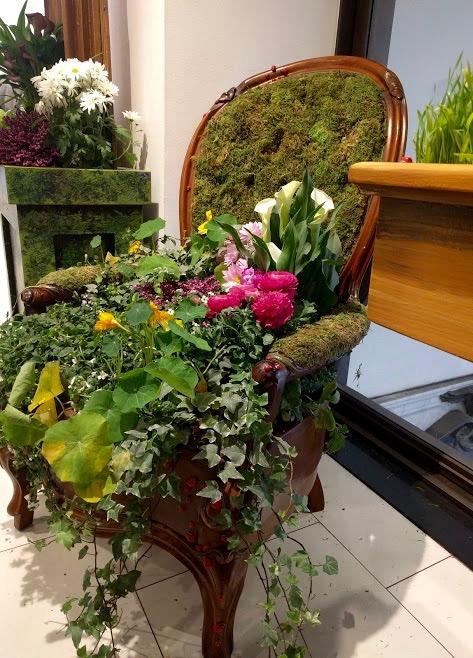 Macy's Flower Show New York - stoel bedekt met bloemen