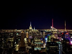 Big Apple - The Rock by night