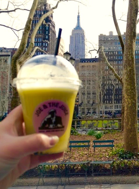 Joe & The Juice in Bryant Park - Big Apple - NYC