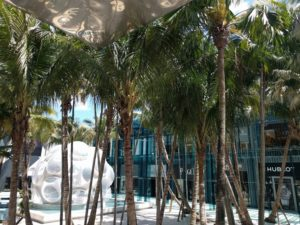 Palm Court in Design District in Miami