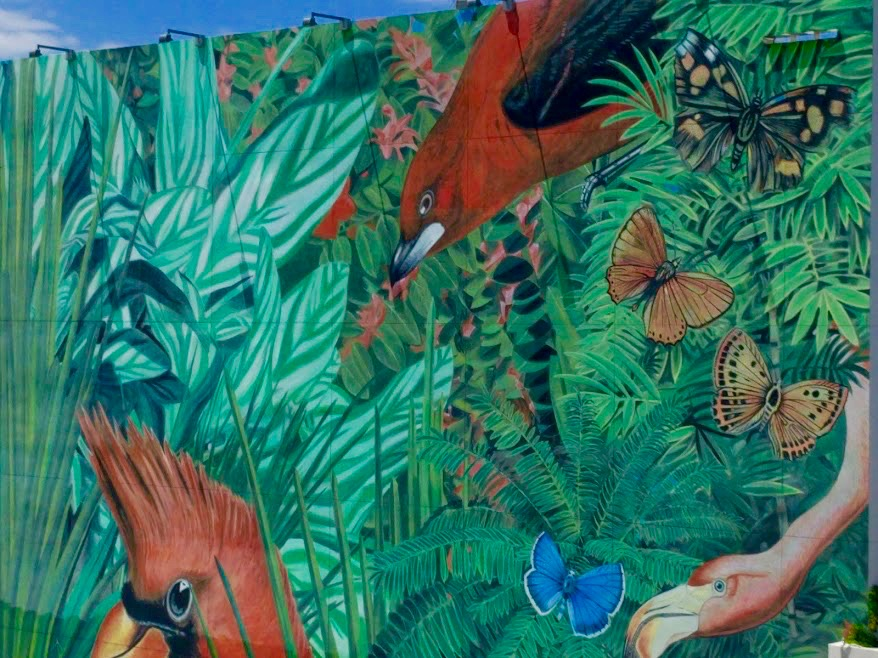 "Mural van 2X4 ""JUNGLE"" 2014, Design District Miami"