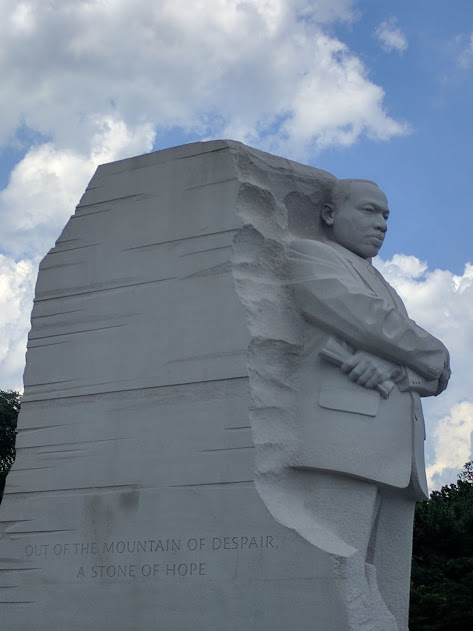 Out of the mountain of despair a stone of hope - Martin Luther King - Washington DC
