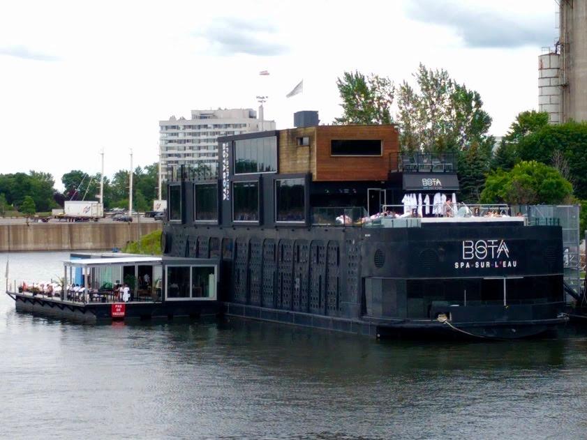 Bota, wellnesboot aan Canal du Lachine