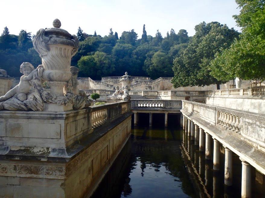 Jardins de la Fontaine, water, Nîmes