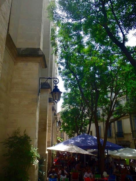Saint-Anne, Montpellier, terrasjes en groen