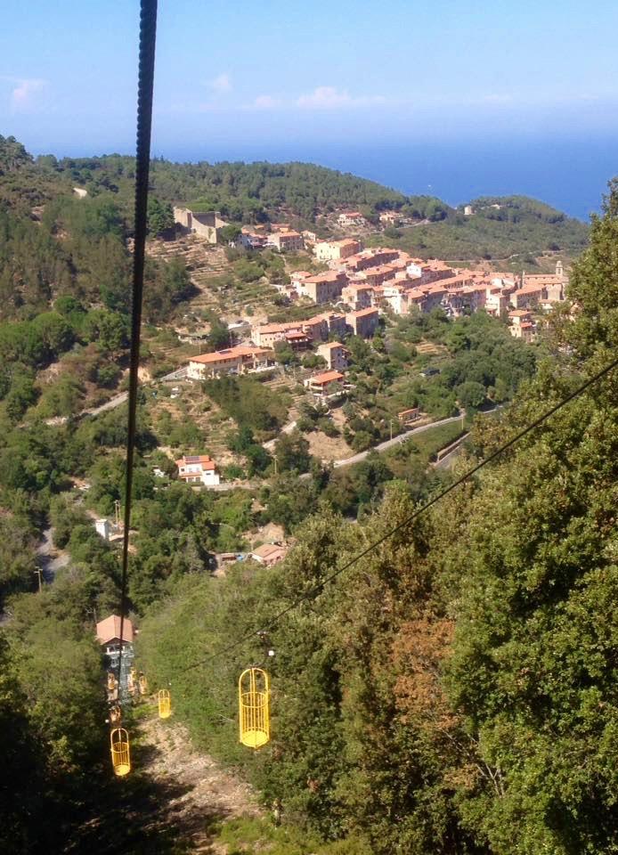 kabellift op eiland Elba