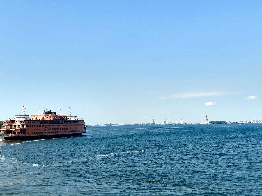 Staten Island ferry en het Vrijheidsbeeld