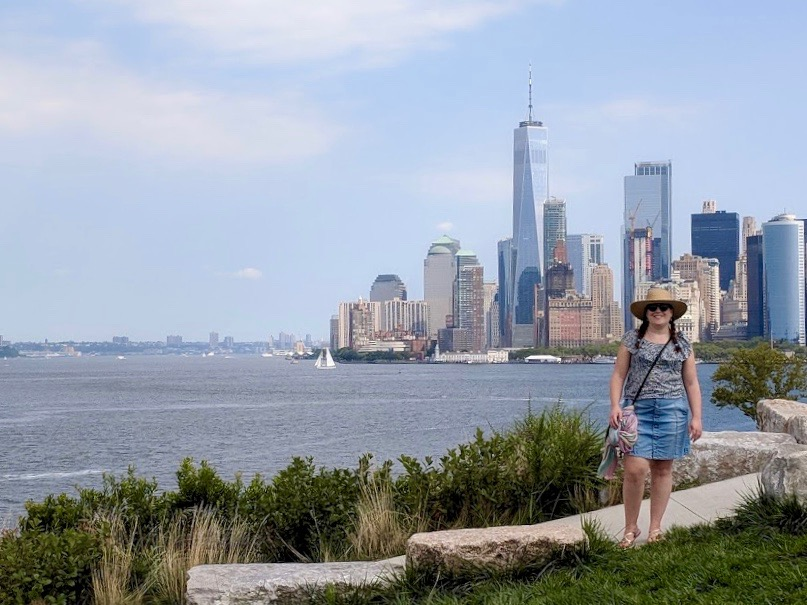 Zicht vanop Outlook Hill op downtown Manhattan