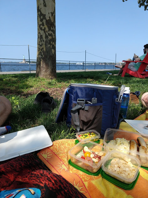 Picknick op Governors Island