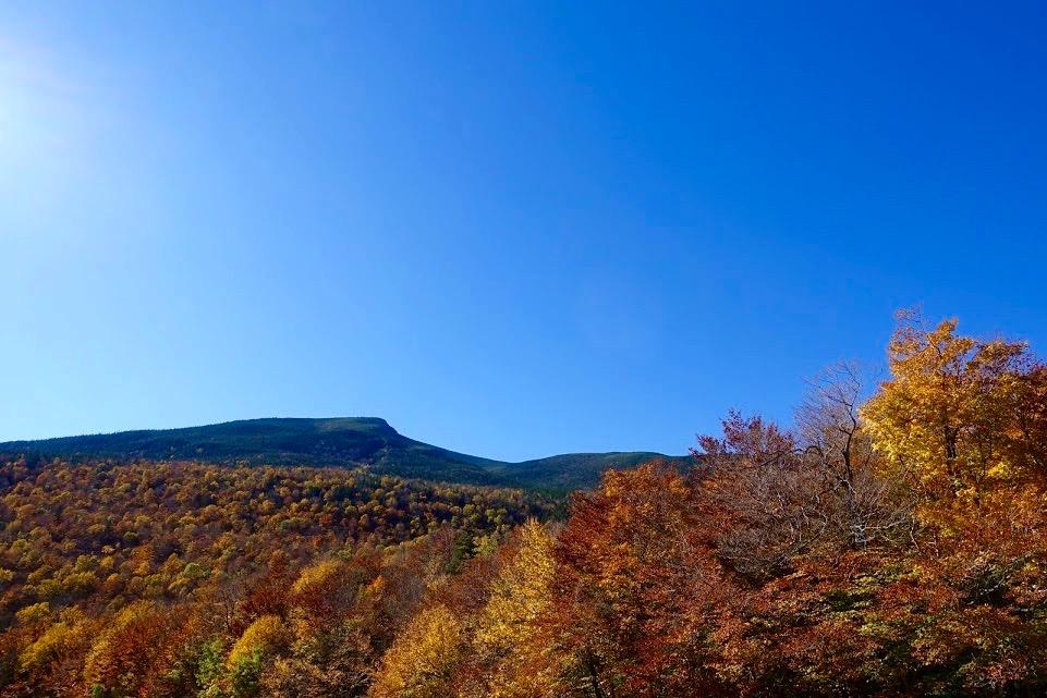 Herfst in New Hampshire, New England USA tijdens een herfstrit in Noord-Amerika