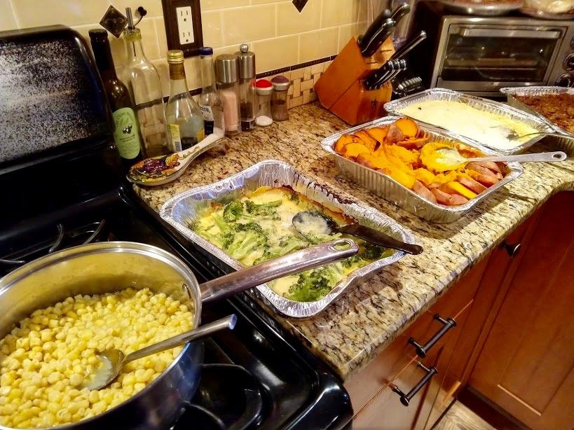 Buffet bijgerechten Thanksgiving