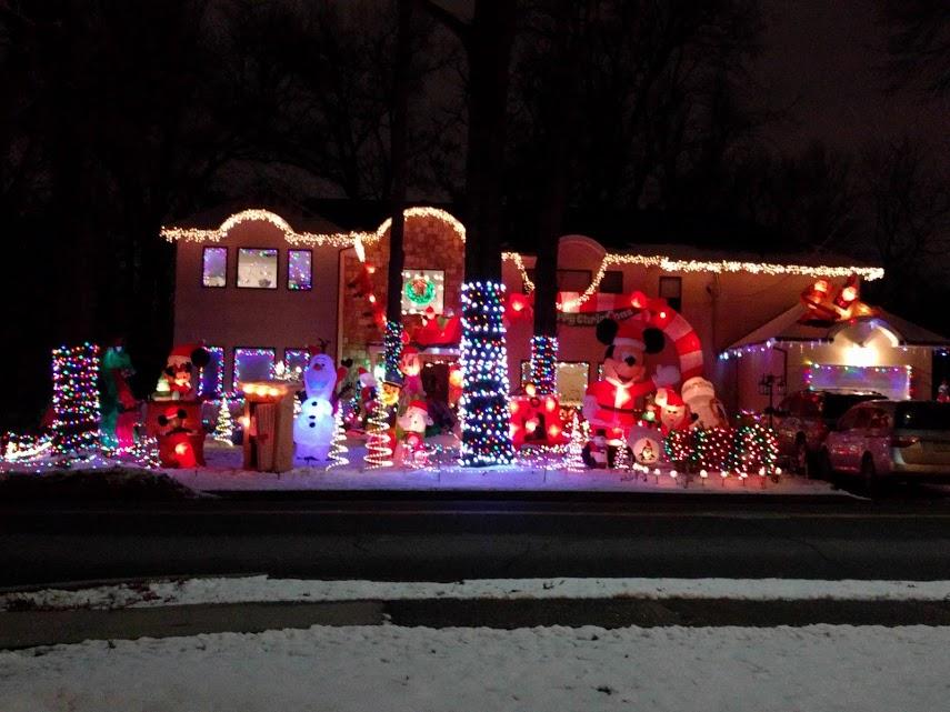 Kerstverlichting huis in Paramus, NJ