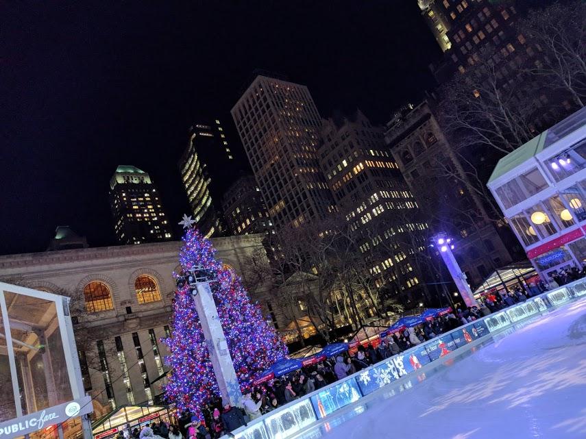 Kerstmarkt Bryant Park NYC