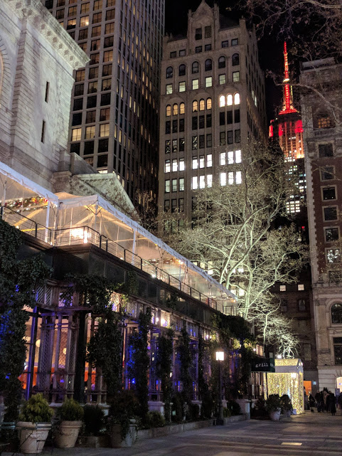 Kerst in New York City - Empire State Building en Grill restaurant Bryant Park