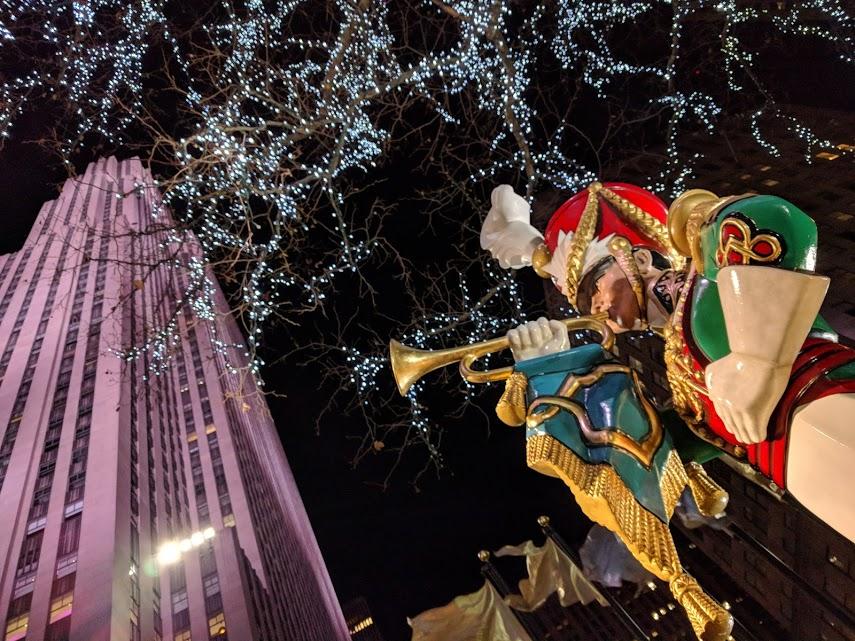 The Rock, Rockefeller Plaza tijdens Kerst in New York