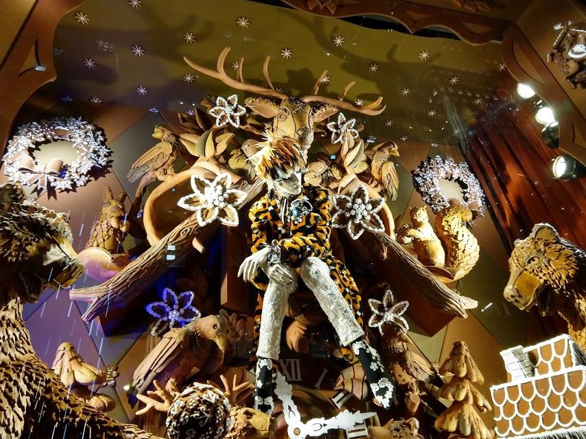 Bergdorf Goodman 5th Ave etalage Kerst in NYC - peperkoek