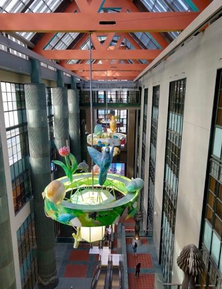 Modern gedeelte in Central Library, downtown LA