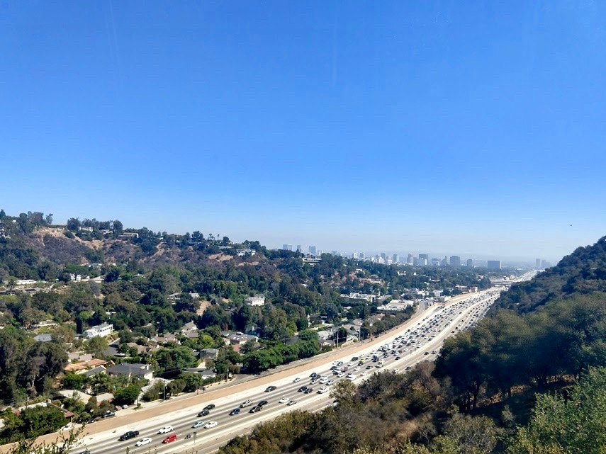 On the road in LA