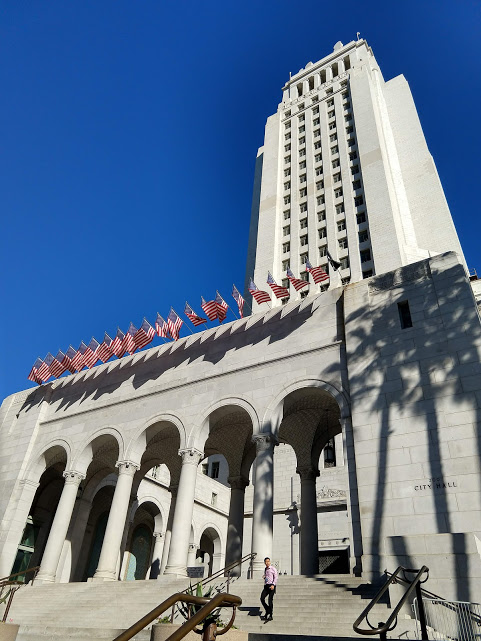 Voorzijde City Hall, downtown LA