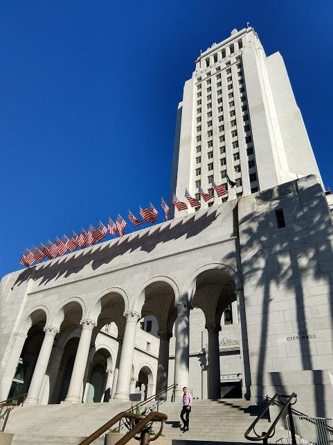 Voorzijde City Hall, downtown LA