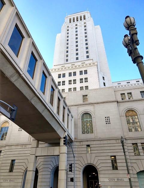 City Hall, downtown LA, Main Street ingang