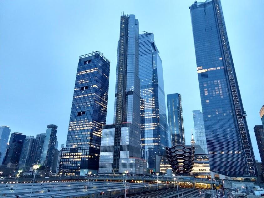 Hudson Yards, gezien vanaf de Hudson