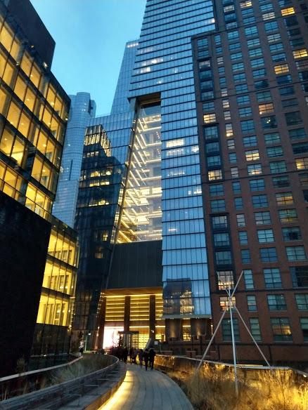 De high Line eindigt aan de Hudson Yards