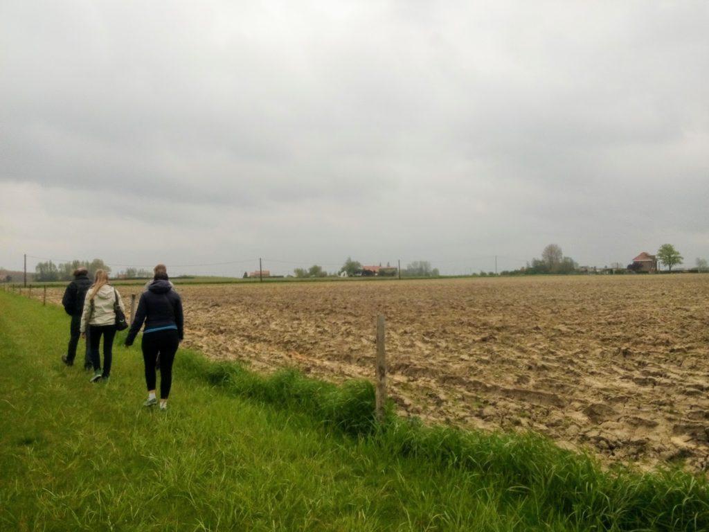 Wandelaars in Westvleteren