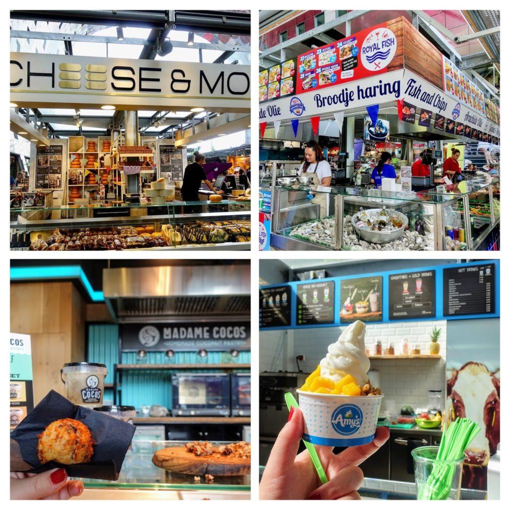 Kraampjes Markthal in Rotterdam met verschillende regionale producten