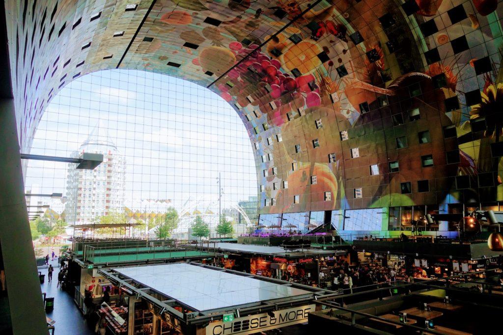 Overzicht Markthal Rotterdam