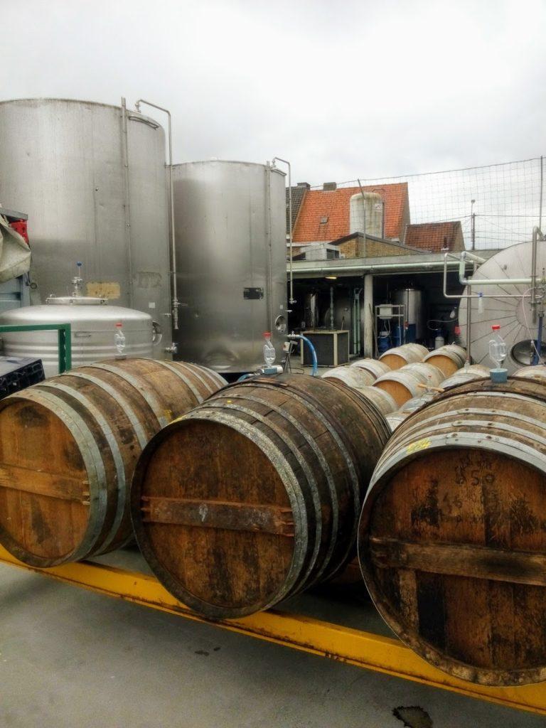 Biervaten van de Struise Brouwers in Oostvleteren, Westhoek
