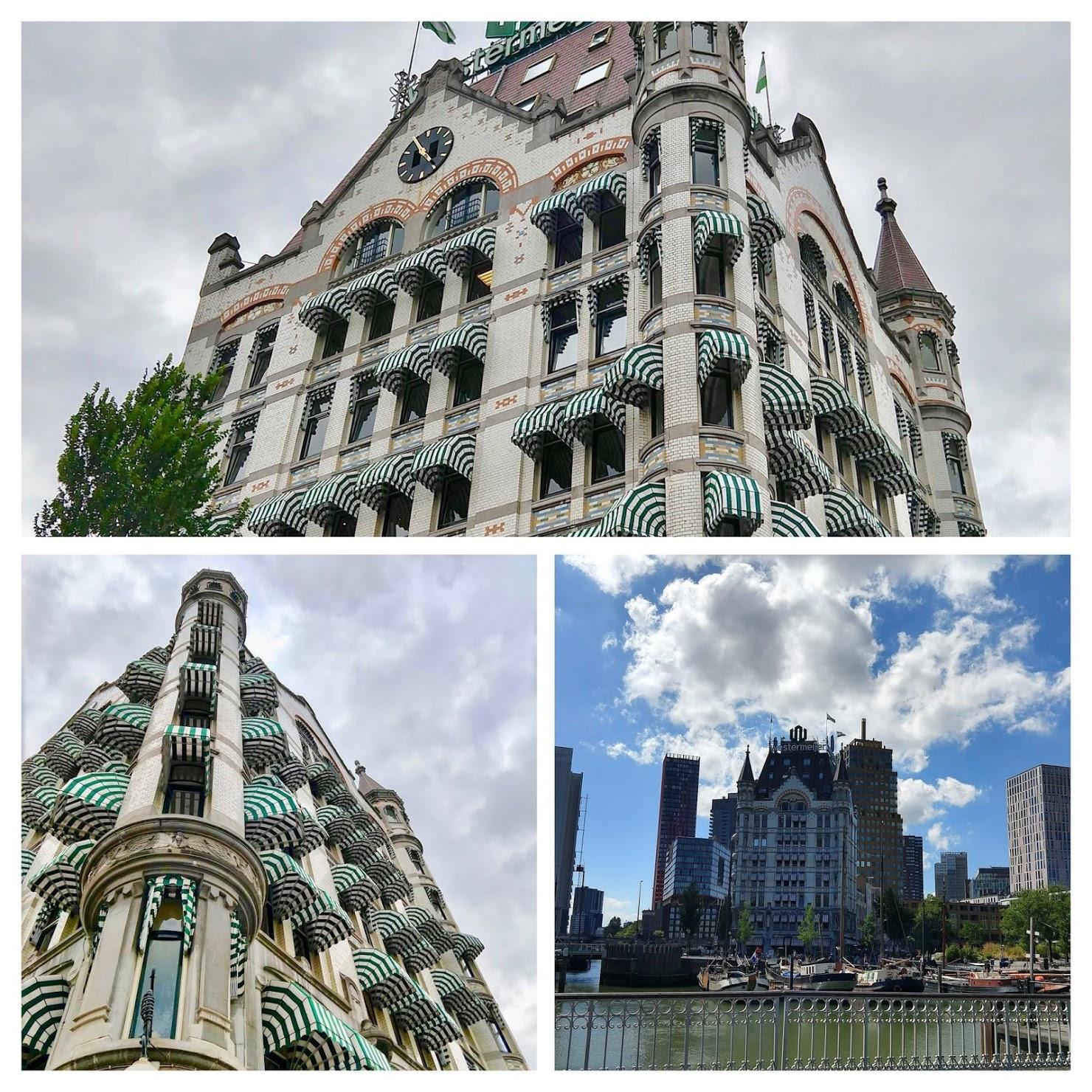 Collage van Het Witte Huis in Rotterdam aan de Oude Haven