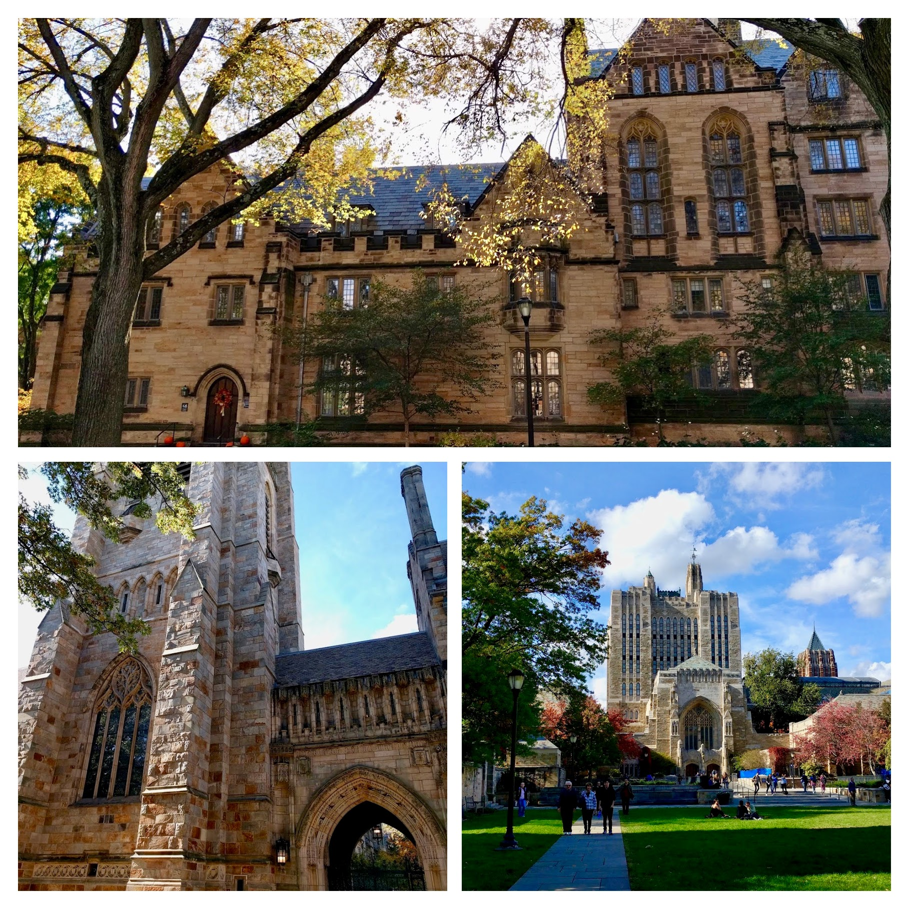 Yale campus in Connecticut