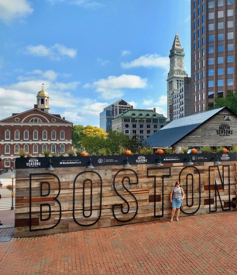 Boston, zicht op faneuil hall en south market
