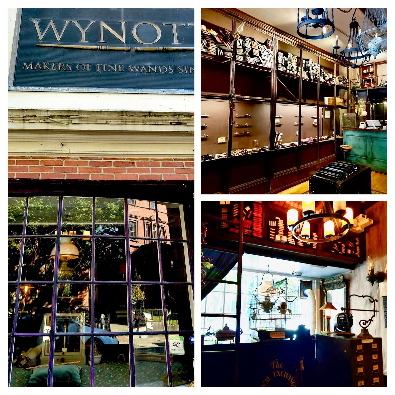 Wynotts in Salem, winkel voor toverstaffen
