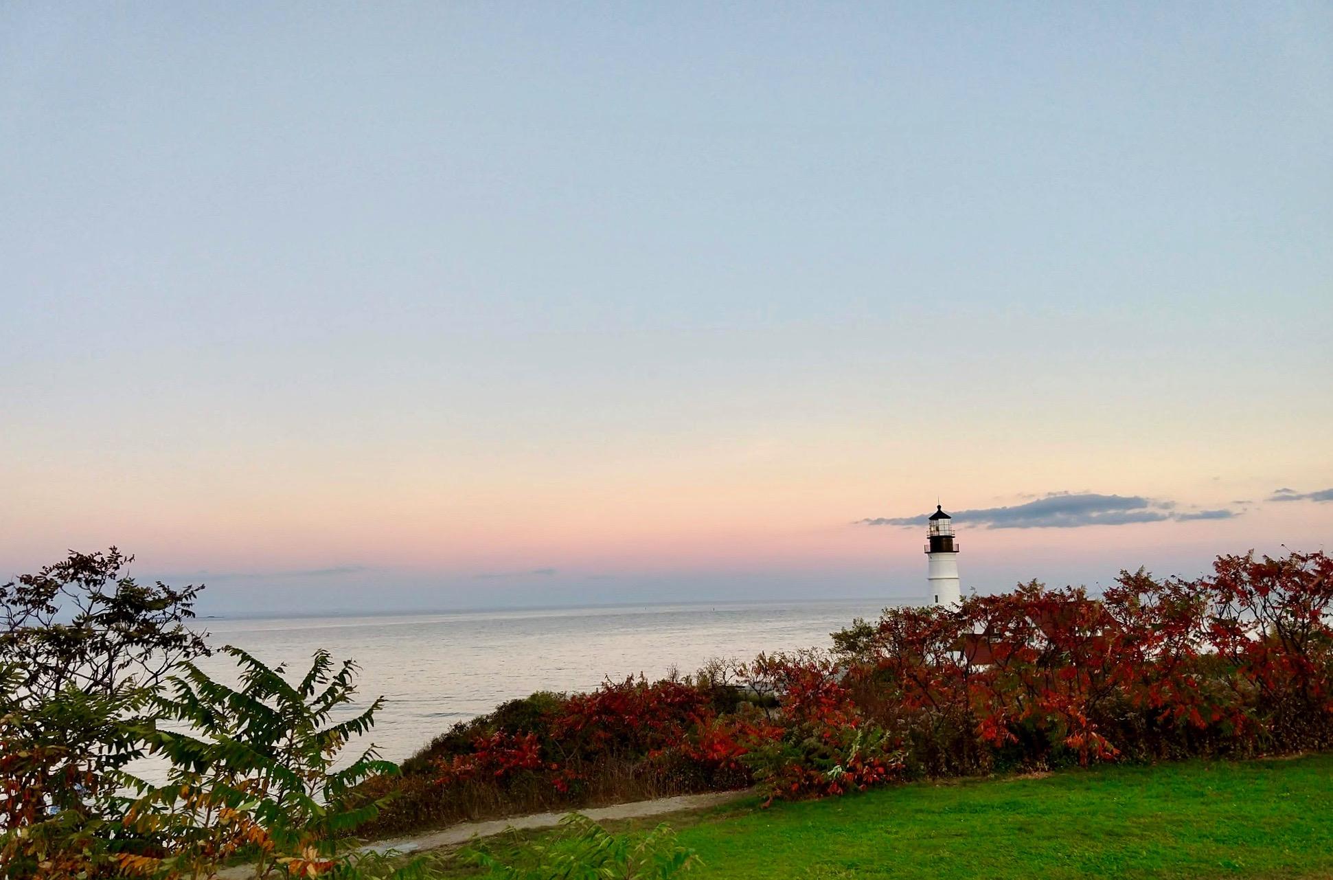 vuurtoren in Portland aan de kust van Maine